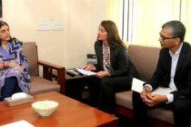 Melinda Gates of Bill and Melinda gates Foundation meeting the Minister for Women and Child Development, Maneka Sanjay Gandhi