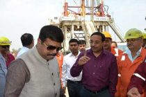 Dharmendra Pradhan MoS (I/C) PNG visited Assam Asset of ONGC