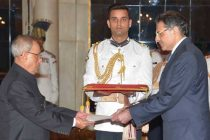 The High Commissioner-designate of Cyprus, Demetrios A. Theophylctou presenting his credential to the President, Pranab Mukherjee