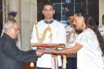 The Ambassador-designate of Mexico, Melba Maria Pria Olavarrieta presenting his credential to the President, Pranab Mukherjee,