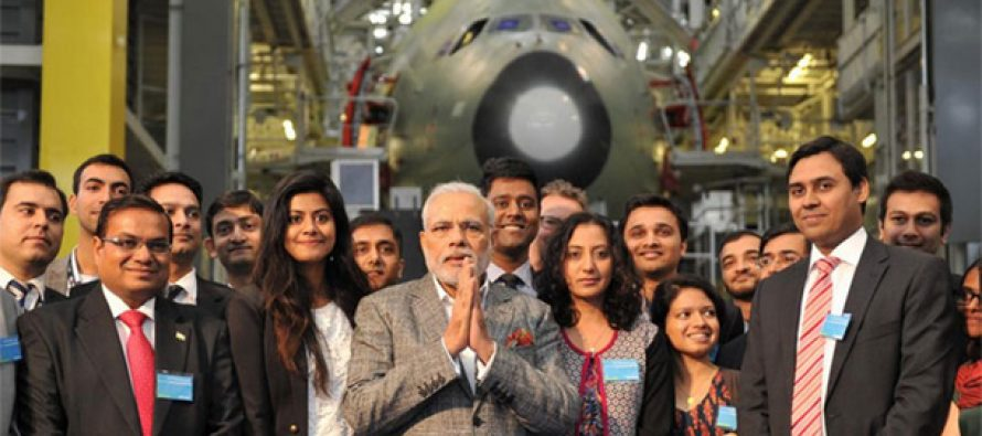 Modi in France : Airbus to hike Indian outsourcing to $2 bn