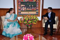 Mr. Le Yucheng, Ambassador of the People's Republic of China calls on Lok Sabha Speaker Smt. Sumitra Mahajan in Parliament House