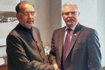 The Minister for Agriculture, Radha Mohan Singh meeting the Minister of Agriculture, Canada, Gerry Ritz