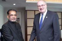 The Minister for Agriculture, Radha Mohan Singh meeting the Minister of Agriculture, Turkey, Mehmet Mehdi Eker