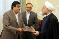 The Minister for Road Transport & Highways and Shipping, Nitin Gadkari calling on the President of Iran, Dr. Mohsen Rouhani,