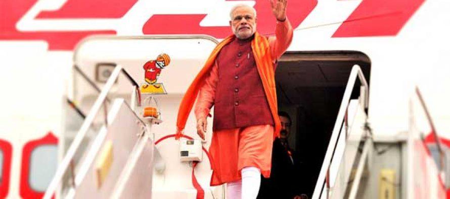 Modi leaves for Laos