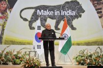 The Prime Minister, Narendra Modi addressing at the Indian Community Reception, in Seoul, South Korea on May 18, 2015.