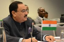 The Union Minister for Health & Family Welfare, Jagat Prakash Nadda addressing the Commonwealth Health Ministers' Meeting