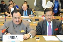 The Minister for Health & Family Welfare, Jagat Prakash Nadda addressing the 8th NAM Health Ministers' Meeting,