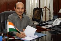 Ashok Kumar Gupta taking over as the new Secretary, Defence Production, in New Delhi on May 25, 2015.