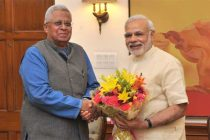 The Governor of Tripura, Tathagata Roy calling on the Prime Minister, Narendra Modi, in New Delhi on May 27, 2015.