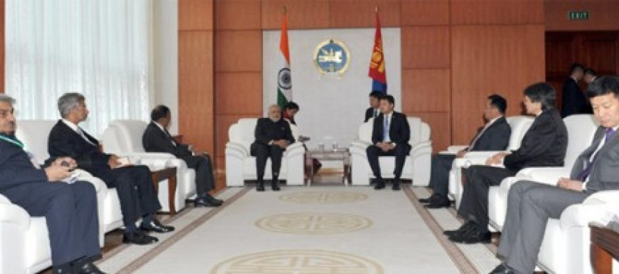 India, Mongolia ink 14 agreements