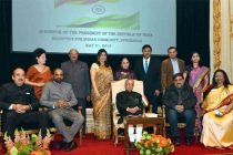 The President, Pranab Mukherjee at the Indian Community Reception hosted by the Ambassador of India to Sweden