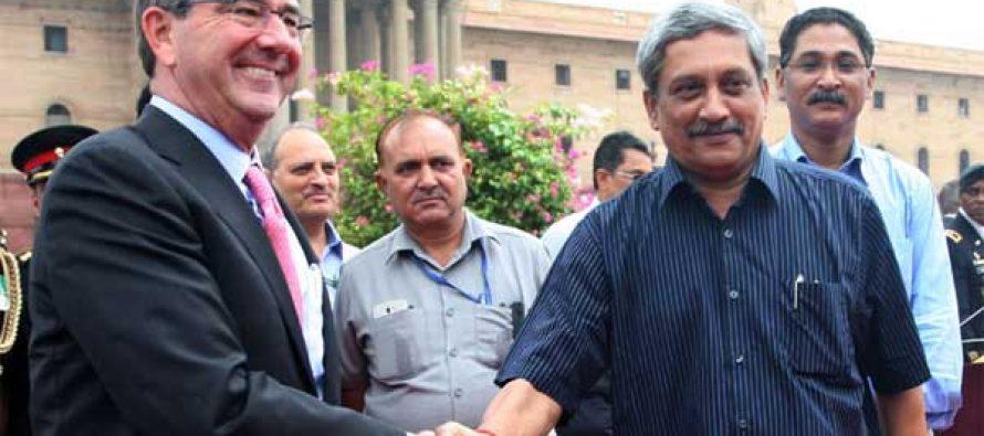 US defence secretary meets Parikkar