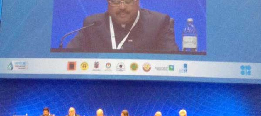 The MoS for Petroleum and Natural Gas (IC), Dharmendra Pradhan addressing the 6th International Seminar