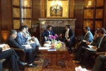 The MoS for Petroleum and Natural Gas (IC), Dharmendra Pradhan meeting the Energy Minister of Qatar, Dr. Mohamed bin Saleh al Sada