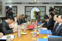 A parliamentary delegation from China led by the Chairman of the Standing Committee of the National People's Congress