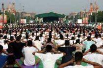 Full dress rehearsal at Rajpath ahead of yoga day