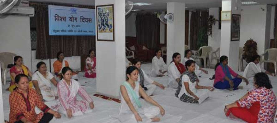 International Yoga Day was celebrated at NTPC- NOIDA township  with enthusiasm.
