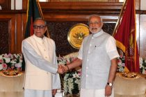 PM Narendra Modi meeting the President of Bangladesh, Mr. Abdul Hamid at Bangabhaban in Dhaka, Bangladesh