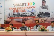 """The Minister for Road Transport & Highways and Shipping, Nitin Gadkari at the inauguration of the """"Smart Transportation Infra Summit"""