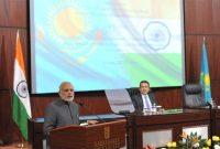 The Prime Minister, Narendra Modi addressing the gathering at the Nazarbayev University, in Astana, Kazakhstan on July 07, 2015.