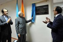 The Prime Minister, Narendra Modi inaugurating the India-Kazakhstan Centre for Excellence in Information & Communication Technology
