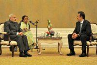 The Prime Minister, Narendra Modi meeting the Prime Minister of the Republic of Kazakhstan, Karim Massimov, in Astana