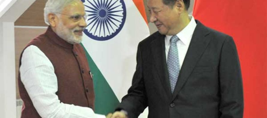 The Prime Minister, Narendra Modi meeting the President of the People's Republic of China, Xi Jinping, in Ufa, Russia