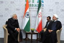 The Prime Minister, Narendra Modi in bilateral meeting with the President of the Islamic Republic of Iran, Hasan Rouhani,