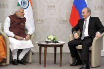 The Prime Minister, Narendra Modi in bilateral meeting with the President of Russian Federation, Vladimir Putin