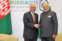 The Prime Minister, Narendra Modi meeting the President of the Islamic Republic of Afghanistan, Mohammad Ashraf Ghani,