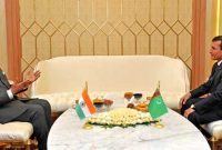 The Prime Minister, Narendra Modi meeting the Deputy Prime Minister and Minister of Foreign Affairs of Turkmenistan, Rasit Meredow
