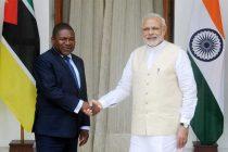 The Prime Minister, Narendra Modi and the President of the Republic of Mozambique, Filipe Jacinto Nyusi, in New Delhi
