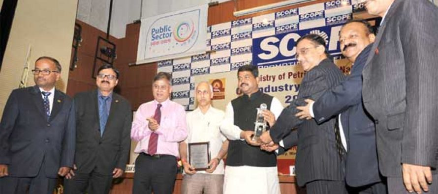 The MoS for Petroleum and Natural Gas (IC), Dharmendra Pradhan gave away the Oil Industry Safety Awards,