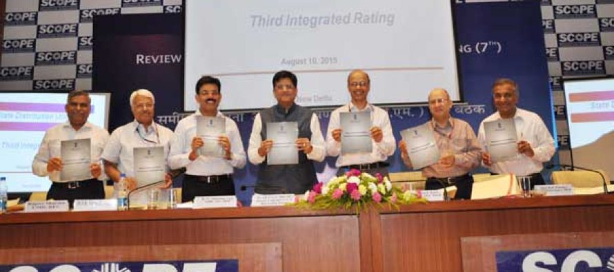 Minister of State (I/C) for Power, Coal and New Renewable Energy Piyush Goyal declared the 3rd Annual Integrated Rating for the year