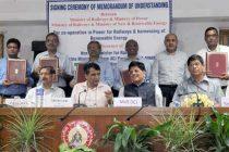 The Minister for Railways, Suresh Prabhakar Prabhu and the MoS (IC) for Power, Coal and New and Renewable Energy, Piyush Goyal