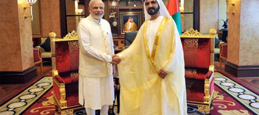The Prime Minister, Narendra Modi meeting the Vice-President and Prime Minister of UAE, HH Mohammed bin Rashid Al Maktoum