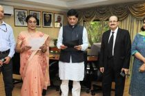 The MoS (IC) for Power, Coal and New and Renewable Energy, Piyush Goyal administering the oath