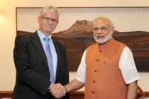 President-elect of UN General Assembly, Mr. Mogens Lykketoft calling on Prime Minister Narendra Modi in New Delhi