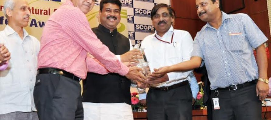 Oil India Limited wins the Oil Industry Safety Award- for the year 2013-14