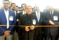 Minister for Mines and Steel, Narendra Singh Tomar inaugurating the Indian pavilion at AIMEX-2015, in Sydney, Australia