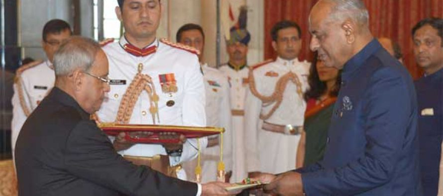 High Commissioner-designate of the Republic of Mauritius, Jagdishwar Goburdhun presenting his Credentials to the President,