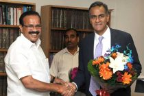 Ambassador of the United States of America, Richard Rahul Verma calls on the Minister for Law & Justice, D.V. Sadananda Gowda