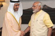 The Foreign Minister of UAE, Sheikh Abdullah Bin Zayed Al Nahyan calling on the Prime Minister, Narendra Modi, in New Delhi