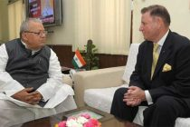 The High Commissioner of Malta in India, John Aquilina U.O.M. meeting the Minister for Micro, Small and Medium Enterprises, Kalraj
