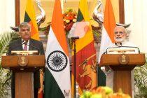 The Prime Minister, Narendra Modi with the Prime Minister of the Democratic Socialist Republic of Sri Lanka, Ranil Wickremesinghe