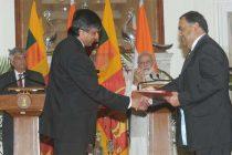 Prime Minister, Narendra Modi and the Prime Minister of the Democratic Socialist Republic of Sri Lanka, Ranil Wickremesinghe