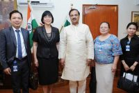 The Ambassador of Republic of Philippines in India, MA Teresita C. Daza calls on the MoS for Culture (IC), Tourism (IC) and Civil Aviation