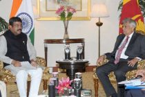 MoS for Petroleum and Natural Gas (IC), Dharmendra Pradhan calling on the Prime Minister of the Democratic Socialist Republic of Sri Lanka, Ranil Wickremesinghe